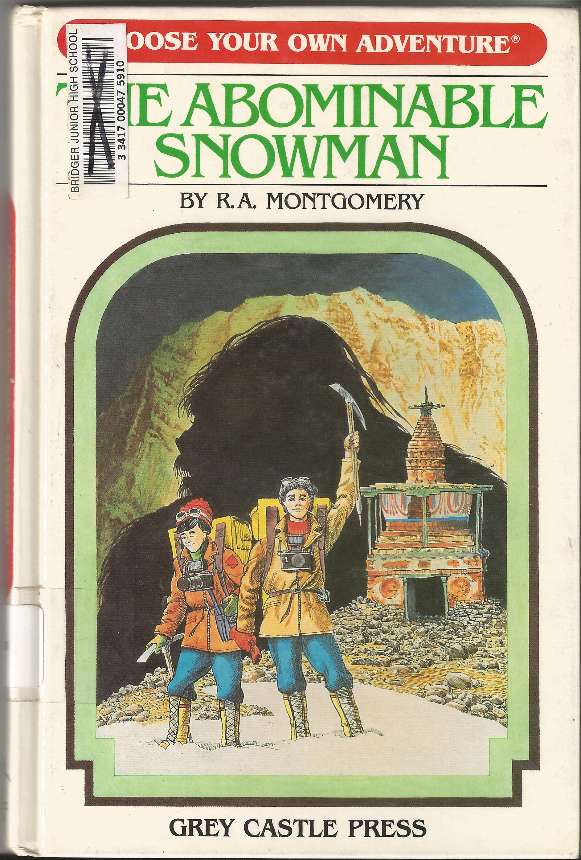 Item The Abominable Snowman Demian S Gamebook Web Page