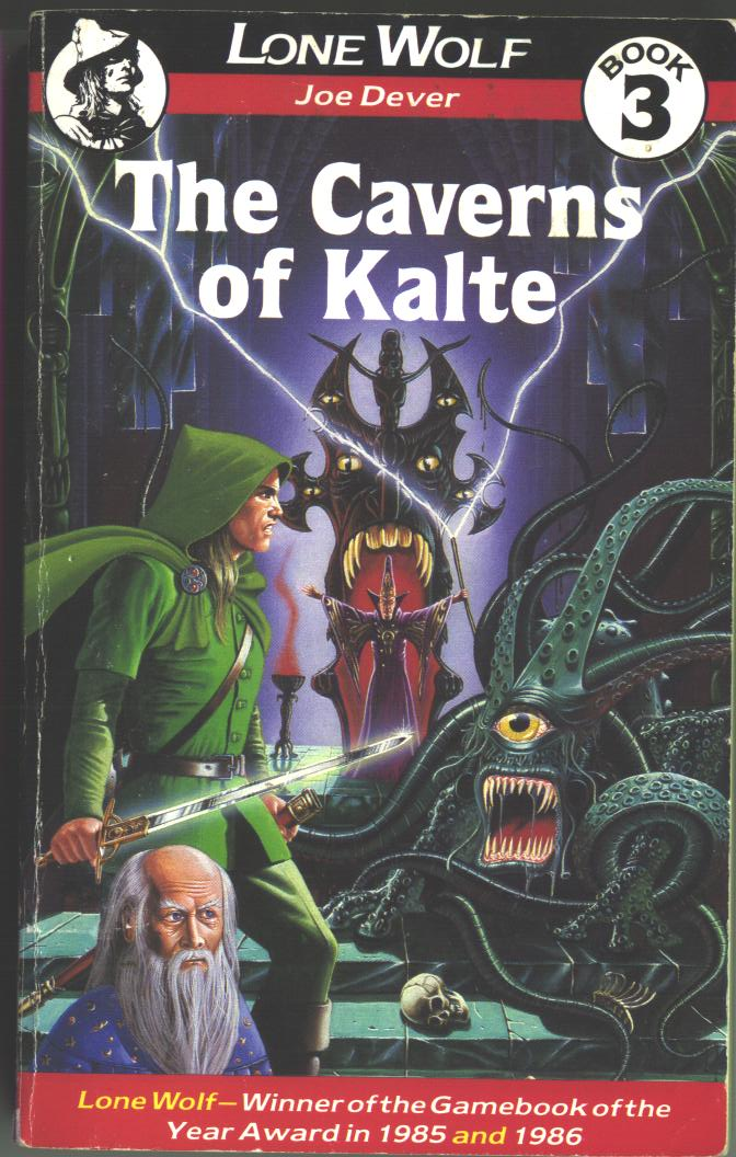 The Caverns of Kalte ***VGC 1st EDITION!!*** Joe Dever Lone Wolf #3 Sparrow