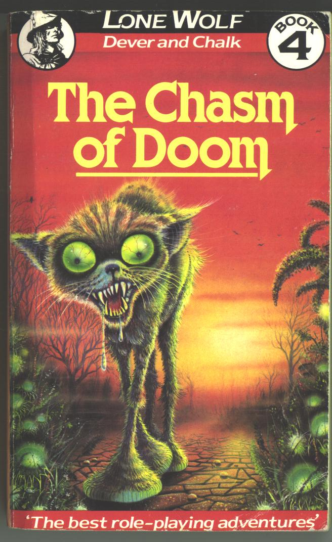 Image result for lone wolf chasm of doom